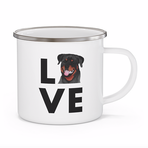 Stole My Heart Rottweiler Personalized Enamel Mug