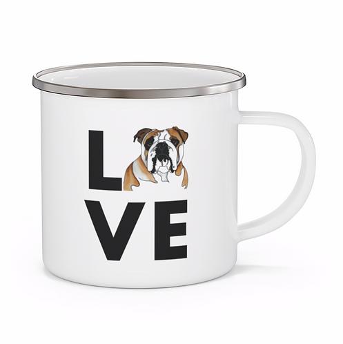 Stole My Heart English Bulldog Personalized Enamel Mug