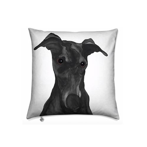 Stole My Heart Greyhound Velvet Pillow