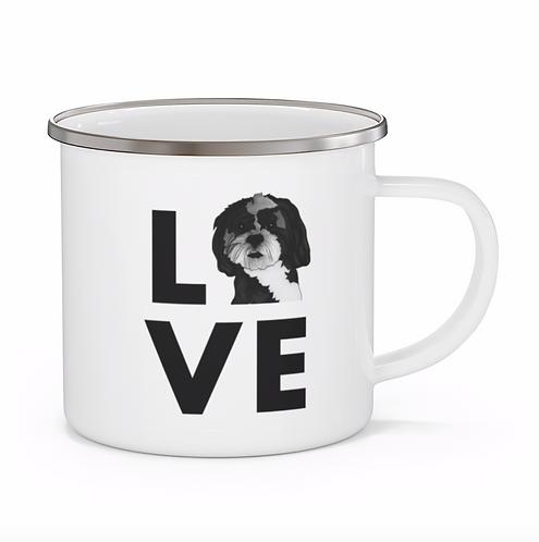 Stole My Heart Maltese 2 Personalized Enamel Mug