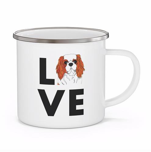 Stole My Heart Cavalier King Charles Spaniel Personalized Enamel Mug