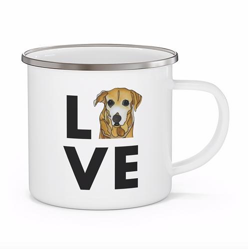 Stole My Heart Mutt 9 Personalized Enamel Mug