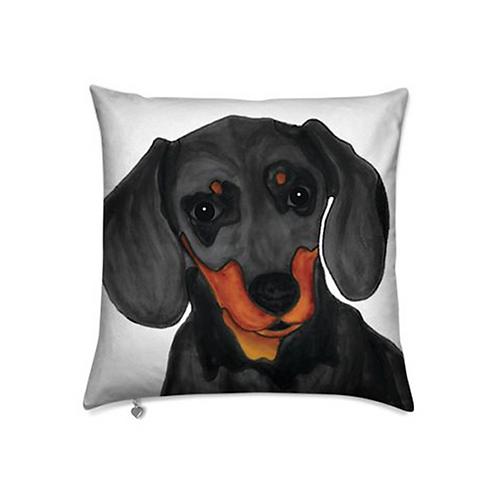 Stole My Heart Dachshund Velvet Pillow