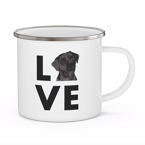 Stole My Heart Chocolate Lab Personalized Enamel Mug
