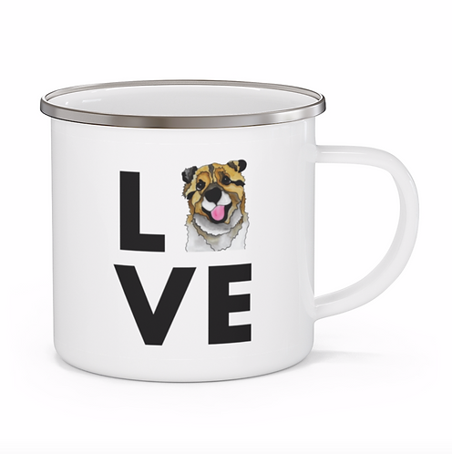 Stole My Heart Mutt 3 Personalized Enamel Mug
