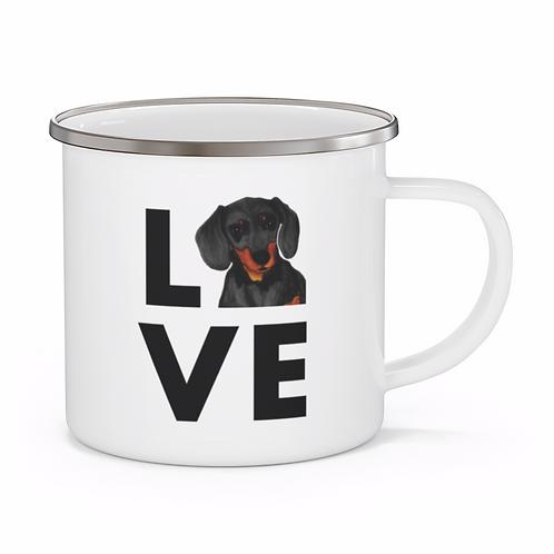 Stole My Heart Dachshund Personalized Enamel Mug