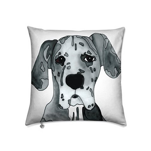 Stole My Heart Great Dane Velvet Pillow