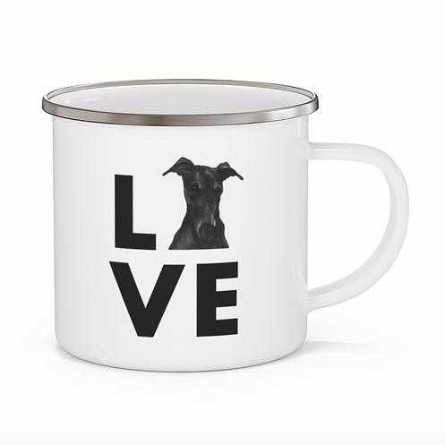 Stole My Heart Greyhound Personalized Enamel Mug