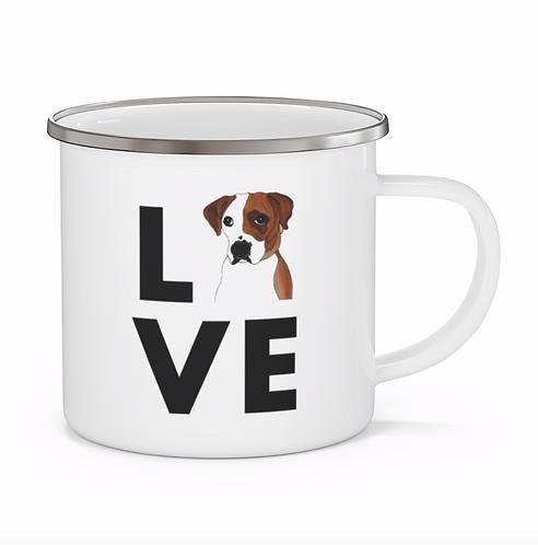Stole My Heart Boxer 3 Personalized Enamel Mug