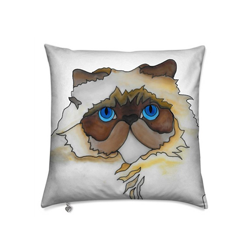 Stole My Heart Persian Cat Velvet Pillow