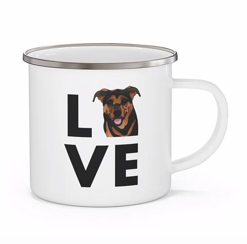 Stole My Heart Mutt 7 Personalized Enamel Mug