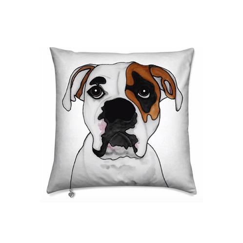 Stole My Heart American Bulldog Velvet Pillow