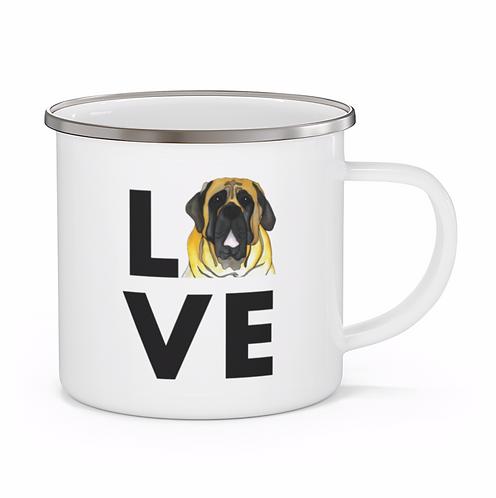 Stole My Heart English Mastiff Personalized Enamel Mug