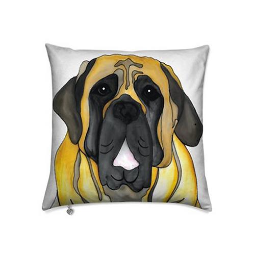 Stole My Heart English Mastiff Velvet Pillow
