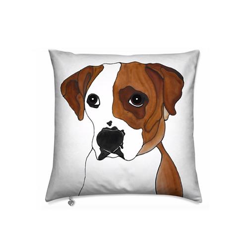 Stole My Heart Boxer Velvet Pillow