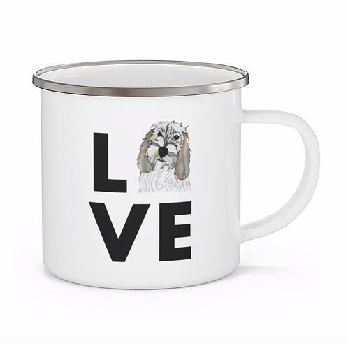 Stole My Heart PBGV 2 Personalized Enamel Mug