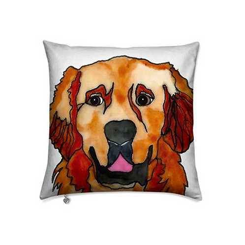 Stole My Heart Golden Retriever Velvet Pillow