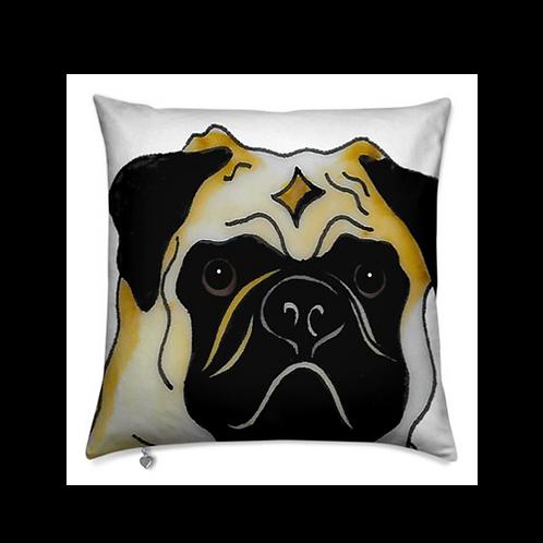 Stole My Heart Pug Velvet Pillow