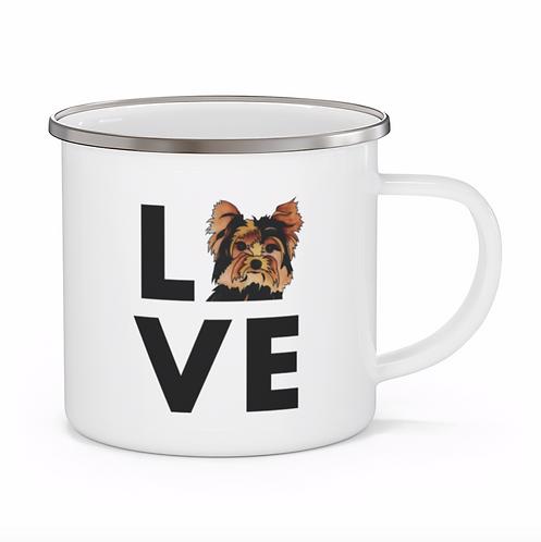 Stole My Heart Yorkie Personalized Enamel Mug