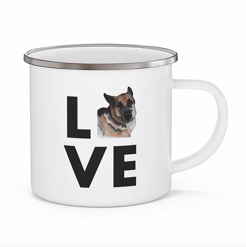 Stole My Heart German Shepherd 2 Personalized Enamel Mug
