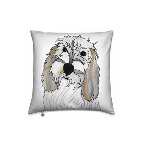 Stole My Heart Petit Basset Griffon Vendeen Velvet Pillow