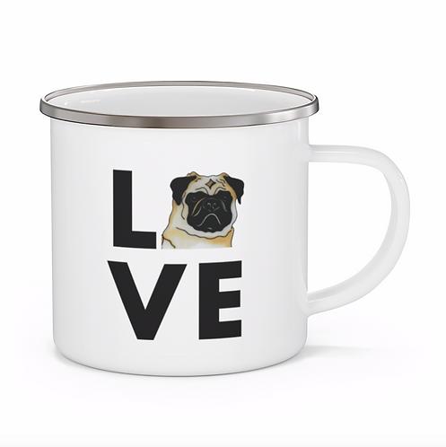 Stole My Heart Pug Personalized Enamel Mug