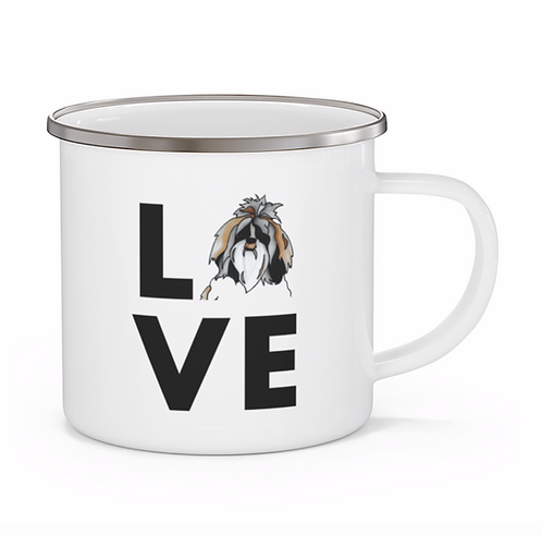 Stole My Heart Shih Tzu Personalized Enamel Mug