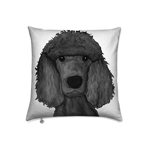 Stole My Heart Poodle Velvet Pillow
