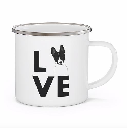 Stole My Heart Basenji Personalized Enamel Mug