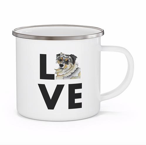 Stole My Heart Australian Shepherd 2 Personalized Enamel Mug