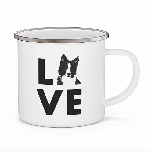 Stole My Heart Border Collie Personalized Enamel Mug