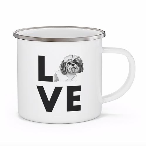 Stole My Heart Mutt 8 Personalized Enamel Mug