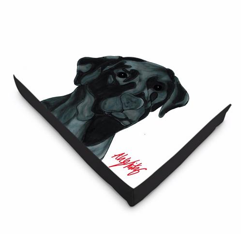 Stole My Heart Black Labrador Dog Bed