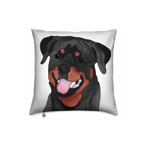 Stole My Heart Rottweiler Velvet Pillow