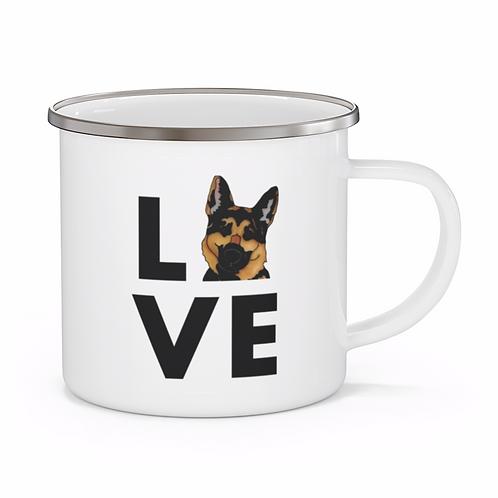 Stole My Heart German Shepherd Personalized Enamel Mug