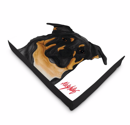 Stole My Heart Black & Brown Mutt Dog Bed