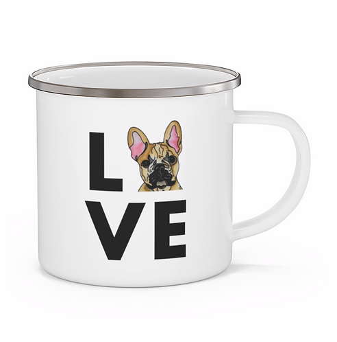 Stole My Heart French Bulldog Personalized Enamel Mug