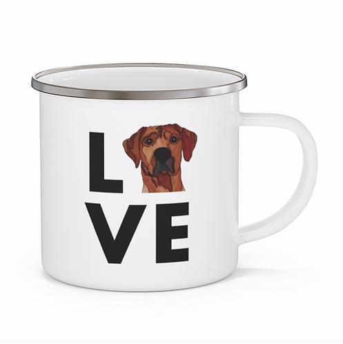Stole My Heart Rhodesian Ridgeback Personalized Enamel Mug