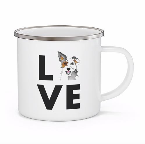 Stole My Heart Mutt Personalized Enamel Mug