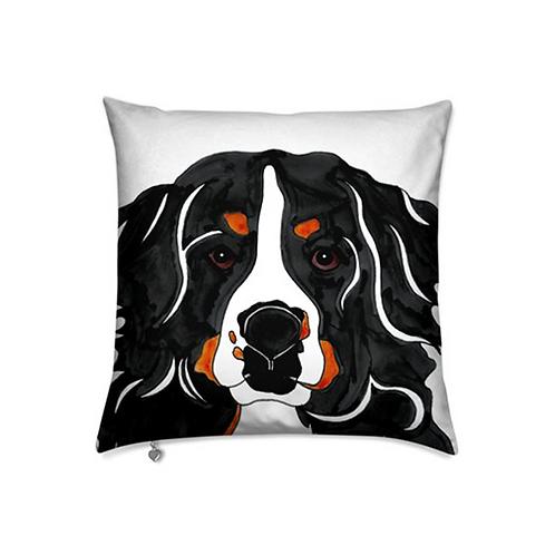 Stole My Heart Bernese Mountain Dog Velvet Pillow