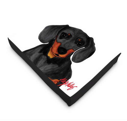 Stole My Heart Dachshund Dog Bed
