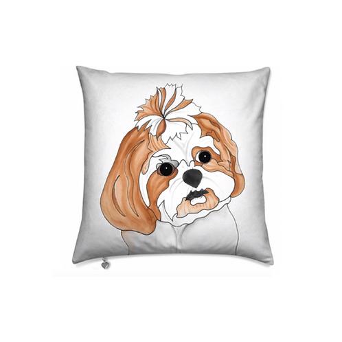 Stole My Heart Shih Tzu Velvet Pillow