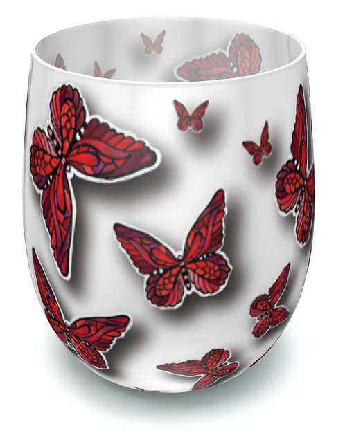 FlutterBy Butterfly Water Glass