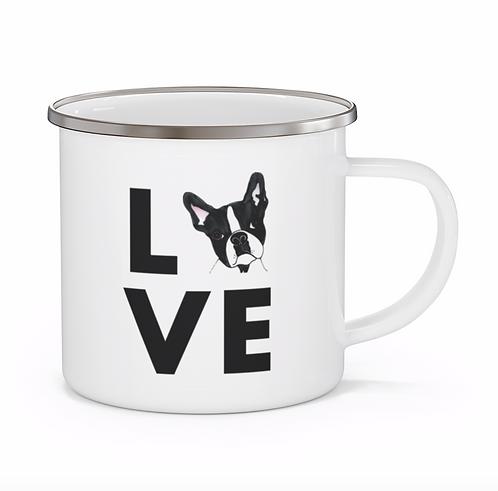 Stole My Heart Boston Terrier Personalized Enamel Mug