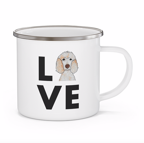 Stole My Heart Standard Poodle 2 Personalized Enamel Mug