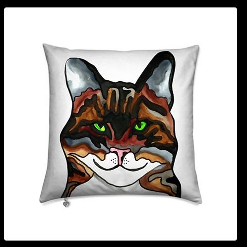 Stole My Heart Tabby Cat Velvet Pillow