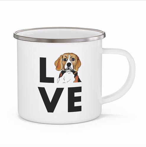 Stole My Heart Beagle Personalized Enamel Mug