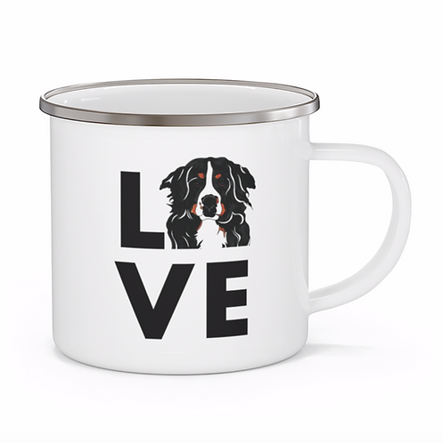 Stole My Heart Bernese Mountain Dog Personalized Enamel Mug