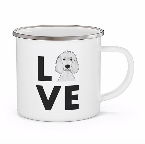 Stole My Heart Standard Poodle 3 Personalized Enamel Mug