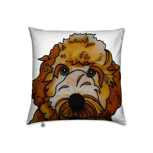 Stole My Heart Labradoodle Velvet Pillow